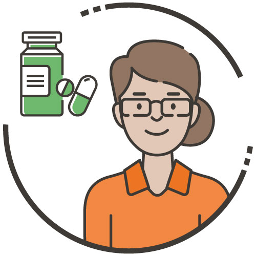 Woman with prescription