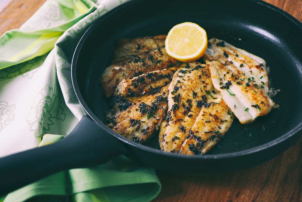 lemon crusted flounder