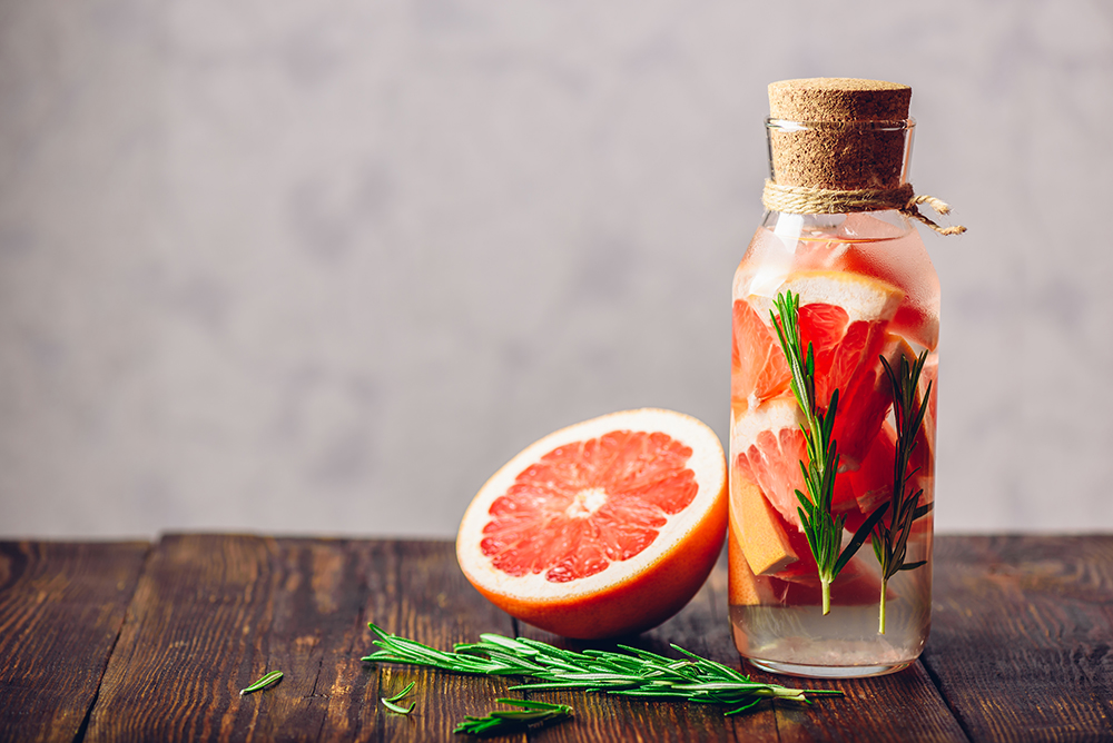 grapefruit rosemary infused water