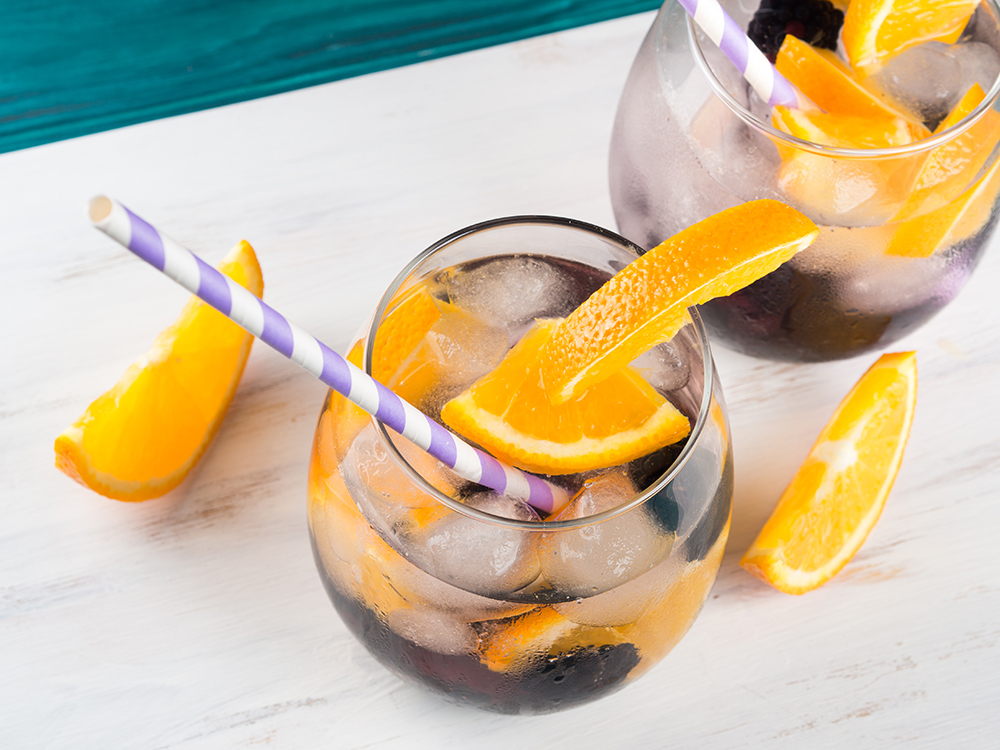 grape orange infused water